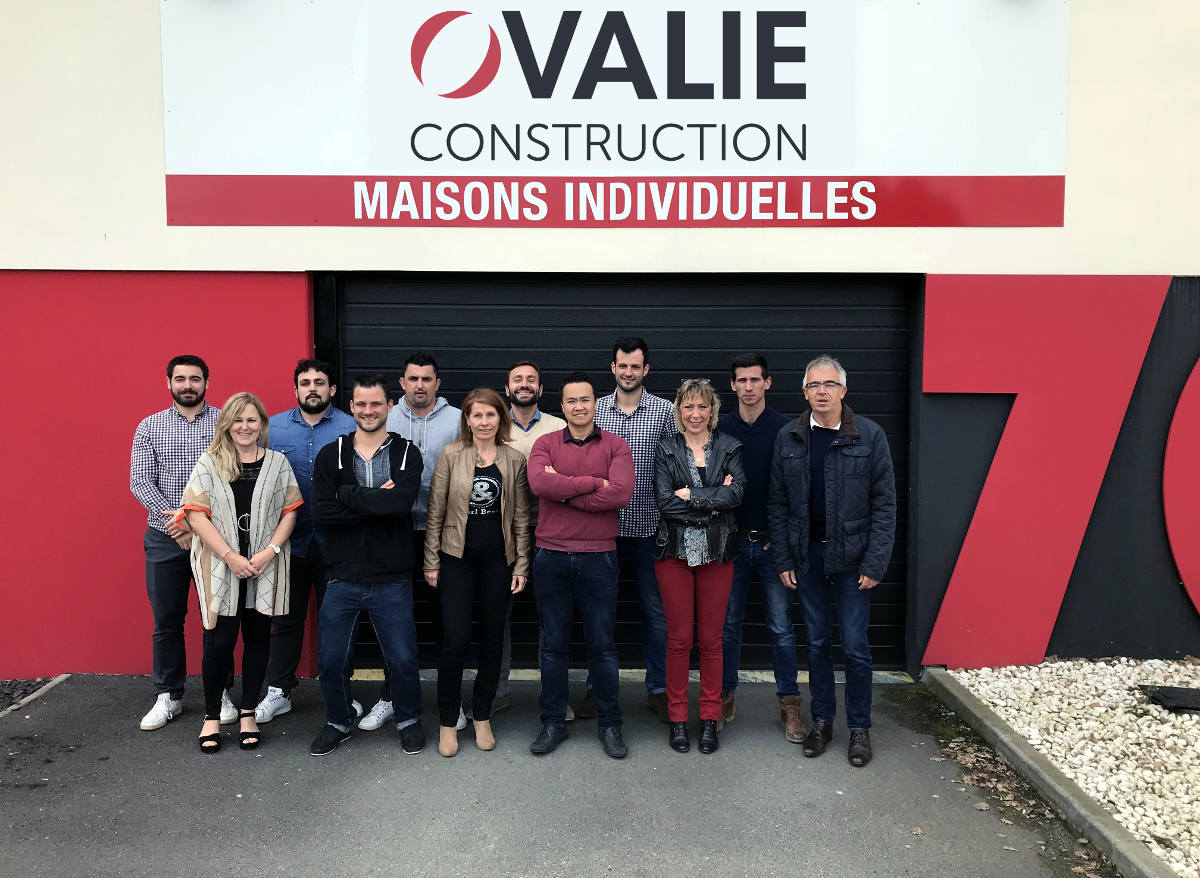 Photo groupe ovalie construction l'équipe